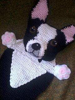 d4088c2a64b Ravelry  Boston Terrier Blankie pattern by Jenna Wingate