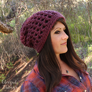 187df9e292e Ravelry  Waffle Cone Slouchy Hat pattern by Julie King