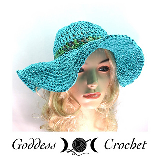 Ravelry  Raffia Wide Brim Hat pattern by Goddess Crochet f2fb1a635ad
