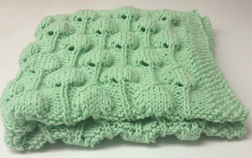 Ravelry: Palm Tree Puff Baby Blanket pattern by Golden ...