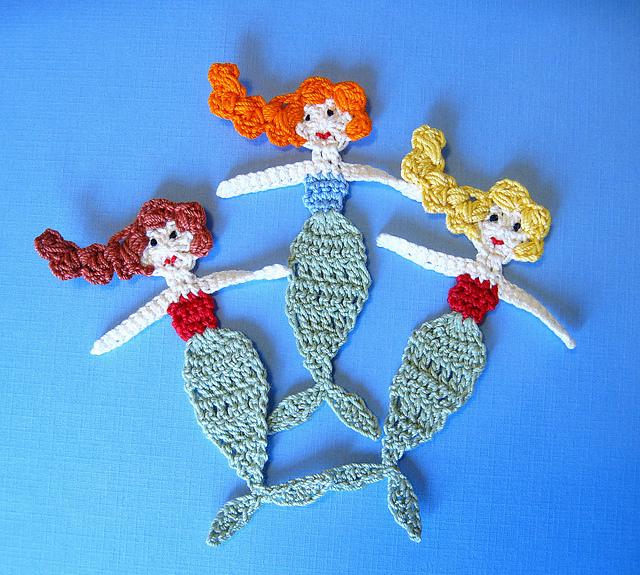Ravelry Mermaid Applique Crochet Pattern Pattern By Goldenlucycrafts