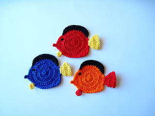 Ravelry Colorful Tropical Fish Applique Pattern By Goldenlucycrafts