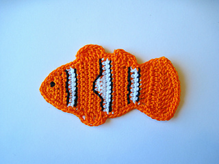 Ravelry Clownfish Tropical Fish Applique Pattern By Goldenlucycrafts