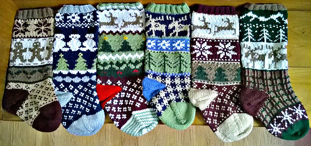 Ravelry: Rustic Fair Isle Christmas Stockings pattern by Simply ...