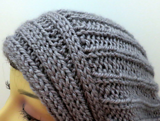 7ef37f710ab Ravelry  The Yvette Slouch Hat with Perpendicular Lines pattern by ...