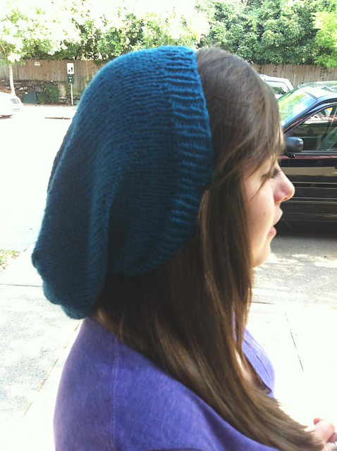 Ravelry Easy Slouchy Hand Knit Hipster Hat Pattern By Laurie Perry