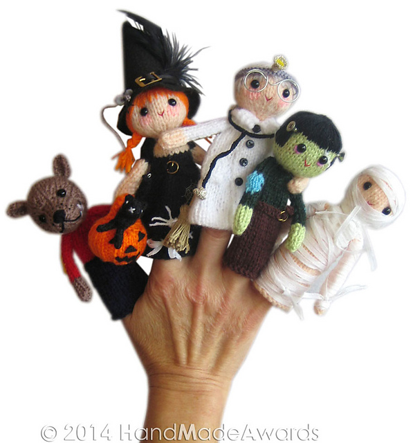 Ravelry My Favourite Monsters Halloween Finger Puppets Pattern By