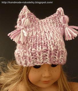 Ravelry American Girl Doll Pink White Hat Pattern Pattern By Bronislava