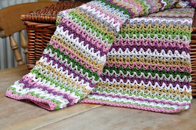 Ravelry V Stitch Blanket Yarn Stash Series Pattern By Hannah Cross