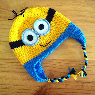 Ravelry minion earflap beanie pattern by janet carrillo dt1010fo