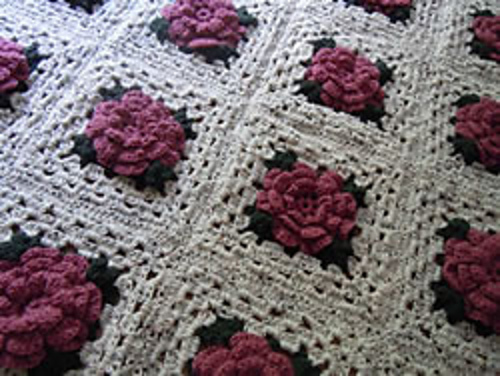 Ravelry: Rose Granny Square Afghan pattern by Craft Elf