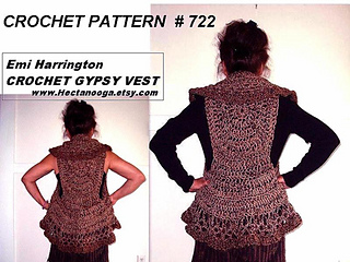 Free Gypsy Vest Crochet Pattern : Ravelry: 722 CHUNKY Gypsy vest, circular vest pattern by ...