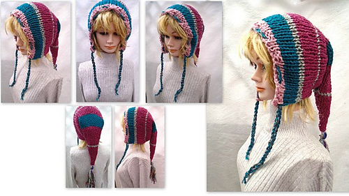 57e53c06c7c Ravelry  867 Long Tail Fairy Pixie Elf Hood pattern by Emi Harrington