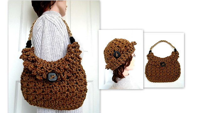 Ravelry  895-ONE HOUR HAT AND PURSE SET pattern by Emi Harrington 41c831bc325