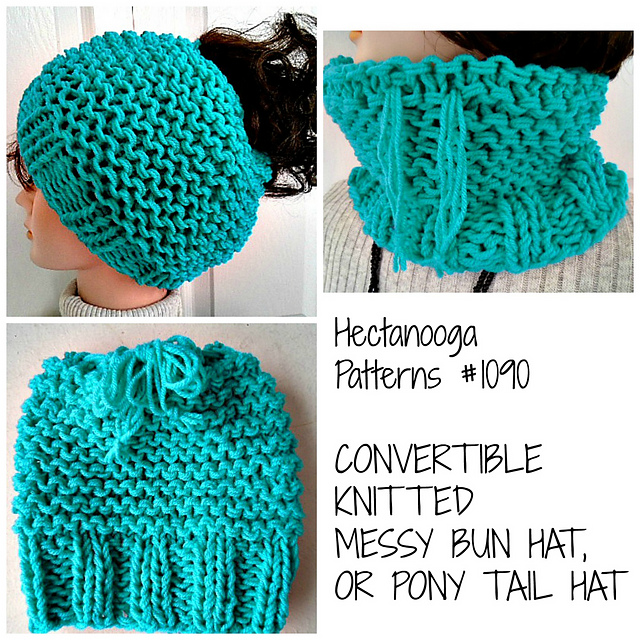 Ravelry 1090 Messy Bun Hat And Cowl Pattern By Emi Harrington