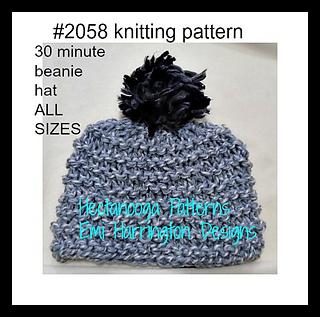 Ravelry  2058F- 30 minute beanie pattern by Emi Harrington 6c46cc27ef7