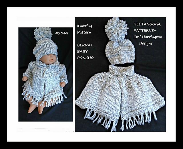 Ravelry 2068 Knit Baby Poncho Pattern By Emi Harrington