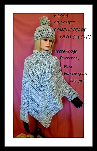 Ravelry 2069 Poncho With Sleeves Pattern By Emi Harrington