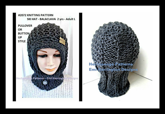 Ravelry 2072 Ski Hat Balaclava Pattern By Emi Harrington