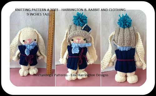 523fc62ef 3003- HARRINGTON bunny rabbit pattern by Emi Harrington