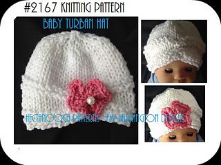 Ravelry  2167K-Baby Turban Hat pattern by Emi Harrington 3d459bef4dd