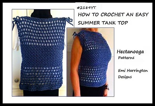 Ravelry 2189yt Summer Tank Top Pattern By Emi Harrington