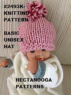 dc8ad26e6 2493k- Basic Unisex Hat pattern by Emi Harrington