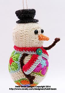 Ravelry Twig The Snowman African Flower Crochet Pattern Pattern By