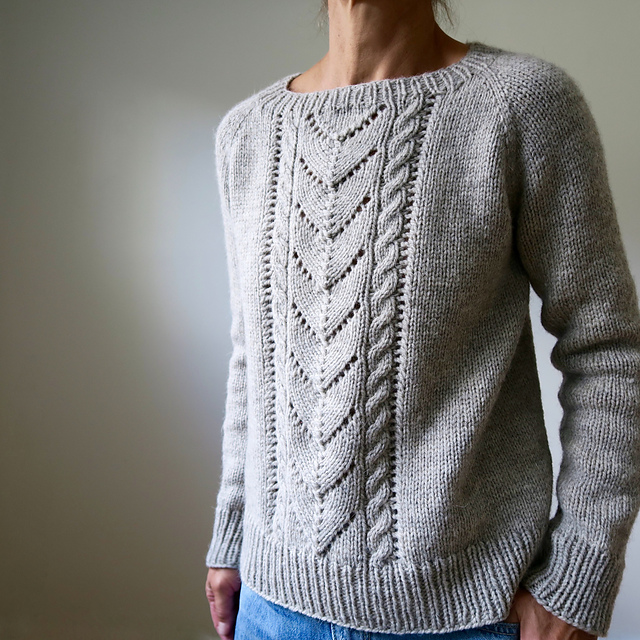 Chandail tricoté en bulky Avalanche par Heidi Kirrmaier
