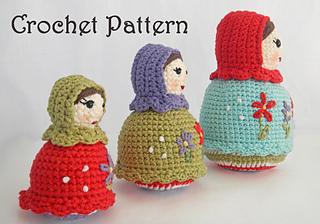 Ravelry The Matryoshka Sisters Russian Nesting Dolls Pattern By Ida