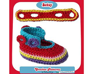 Ravelry Baby Booties Betsy Pattern By Hiepermiepje Van Flobberdewotsky