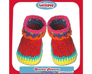 Ravelry Baby Booties Lollipop Pattern By Hiepermiepje Van