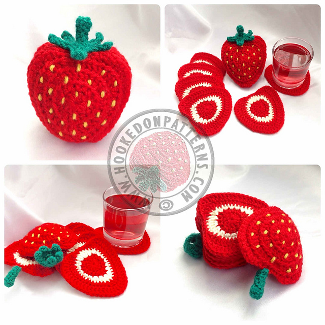 Ravelry Strawberry Coaster Set Pattern By Ling Ryan