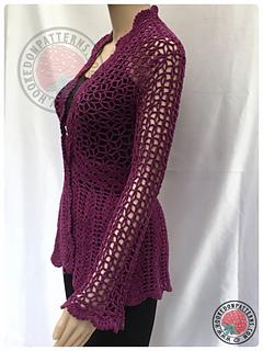 edd371efbf Ravelry  Flory Lace Cardigan pattern by Ling Ryan