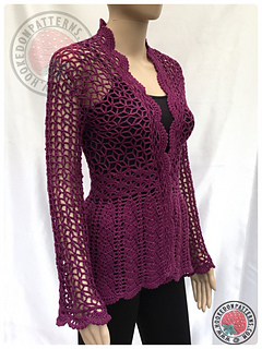 27ee507aa Ravelry  Flory Lace Cardigan pattern by Ling Ryan