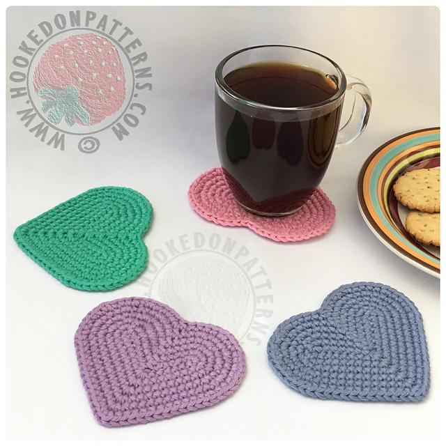 Ravelry Heart Coasters Baskets Ebook Patterns