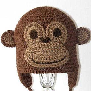 Ravelry Montgomery The Monkey Earflap Critter Animal