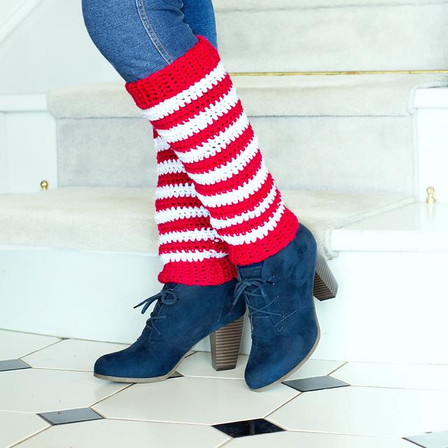 Ravelry Candy Cane Leg Warmers Pattern By Olivia Kent