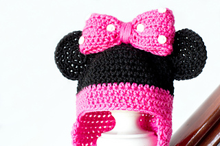 Ravelry  Minnie Mouse Baby Hat pattern by Olivia Kent 6675a91b5c6