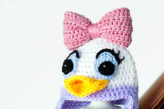 a7f73b5da Daisy Duck Inspired Baby Hat pattern by Olivia Kent - Ravelry