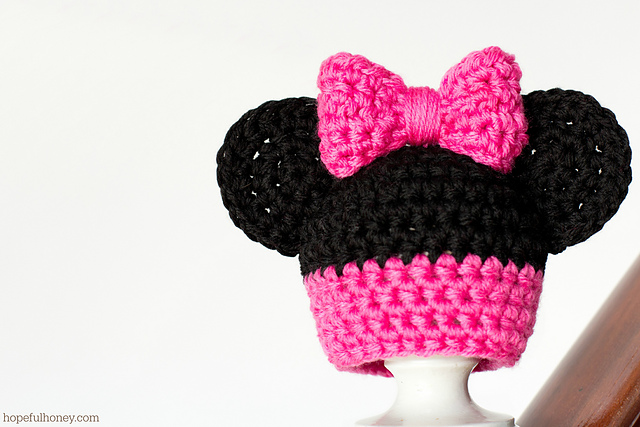 Ravelry: Newborn Minnie Mouse Inspired Hat pattern by Olivia Kent