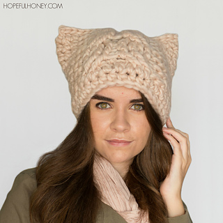 Ravelry  Chunky Cabled Cat Hat pattern by Olivia Kent 32f3499b597