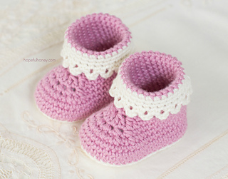 Ravelry Pink Lady Baby Booties Pattern By Olivia Kent