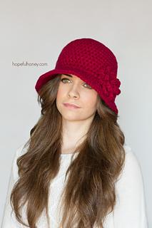 Ravelry 1920s cloche hat pattern by olivia kent hopeful honey dt1010fo