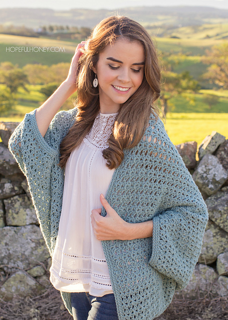 Ravelry Harbor Haze Cocoon Sweater Pattern By Olivia Kent