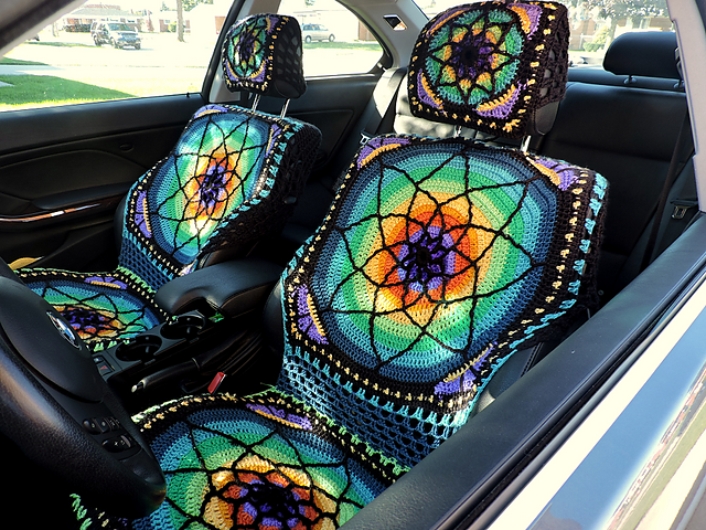 Ravelry Vibrant Crochet Car Seat Covers Pattern By Georgia