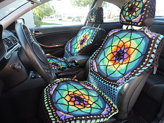 Ravelry Vibrant Crochet Car Seat Covers Pattern By