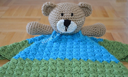 Ravelry Teddy Bear Lovey Security Blanket Pattern By Carolina Guzman