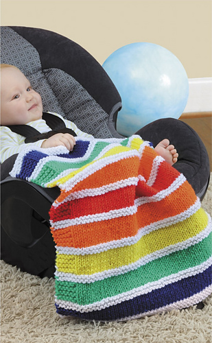 Ravelry Leisure Arts 75470 Car Seat Blankets Knit Patterns