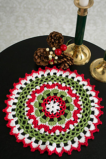 Ravelry Festive Lace Doily Pattern By Natasja King